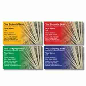 tax business card template 07