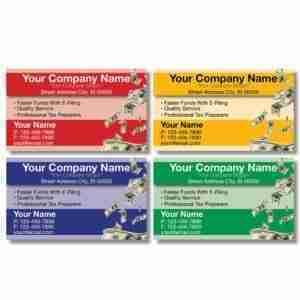 tax business card template 08