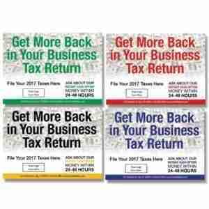 tax postcard template 04