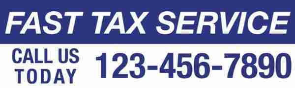 tax banner template 08 blue