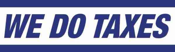tax banner template 05 blue