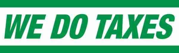 tax banner template 05 green