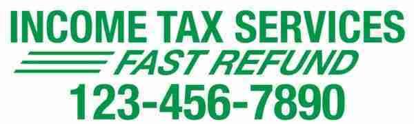 tax banner template 07 green