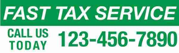 tax banner template 08 green