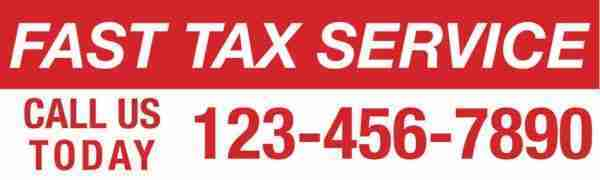 tax banner template 08 red