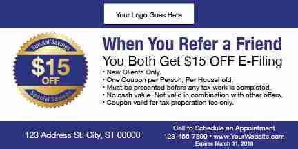tax coupon template 09 blue