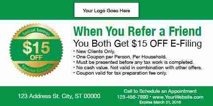 tax coupon template 09 green
