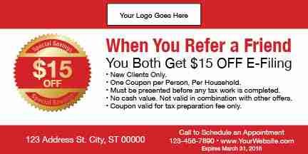 tax coupon template 09 red