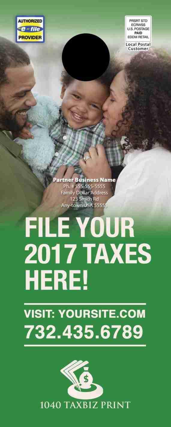 tax door hanger template 10 green