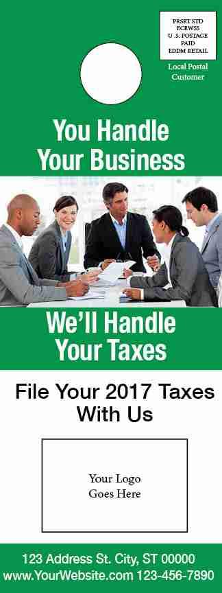 tax door hanger template 05 green