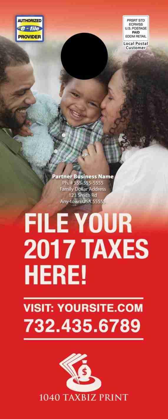 tax door hanger template 10 red