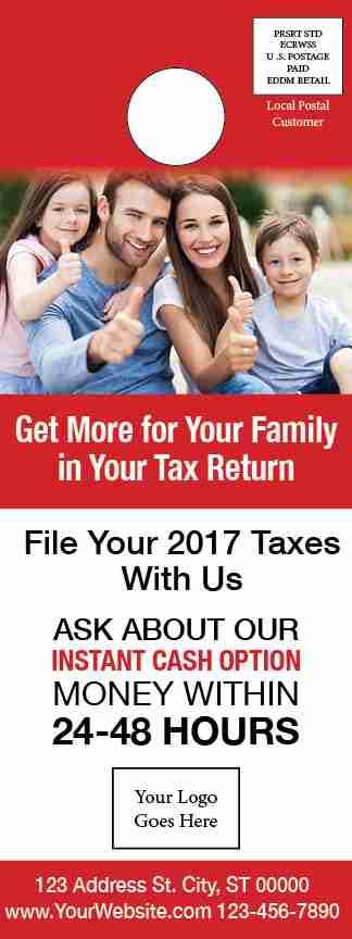tax door hanger template 02 red