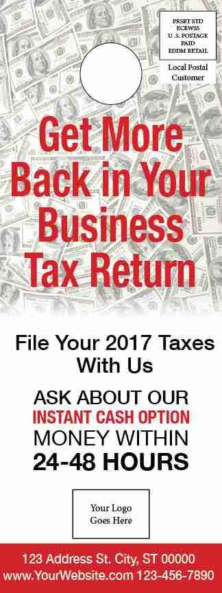 tax door hanger template 04 red