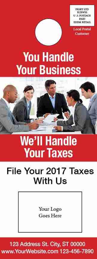 tax door hanger template 05 red