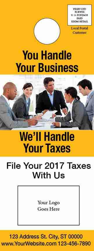 tax door hanger template 05 yellow