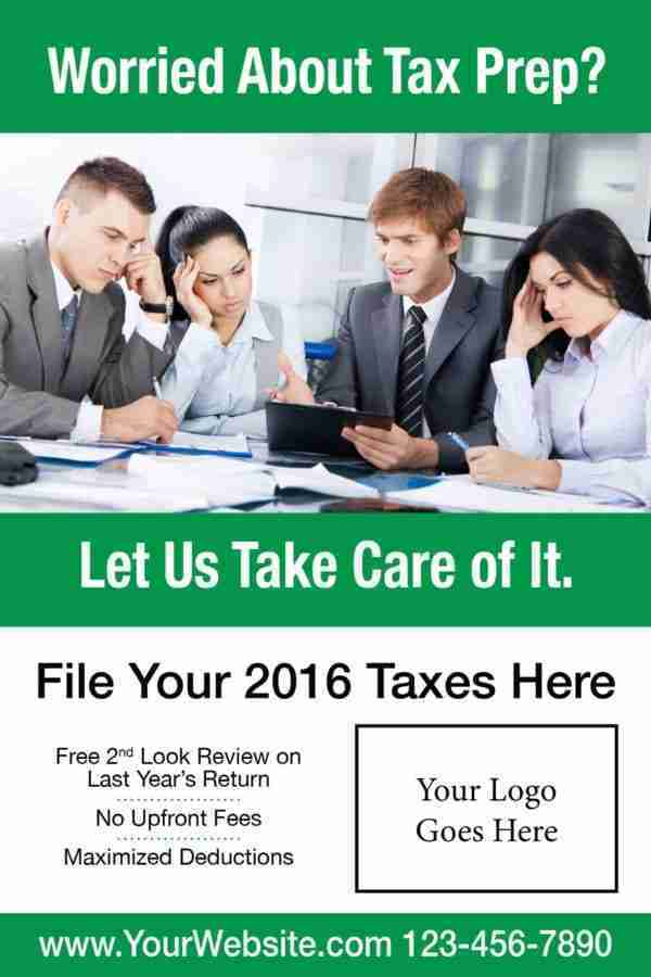 tax poster template 07 green