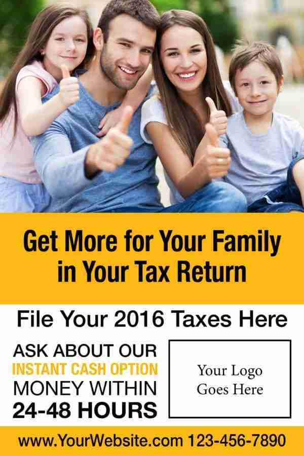 tax poster template 02 yellow